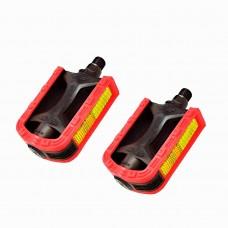 Pedal Mtb 1/2 Export Bicolor Preto com Vermelho