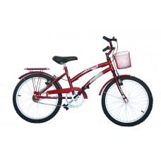 Bicicleta Infantil Aro 20 Mod Cecizinha Dolphin Vermelho