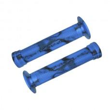 Manopla BMX GI-075H 150mm C/ Flange Azul C/ Preto