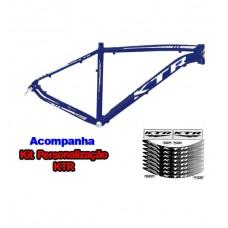 Quadro 26 Aluminio KTR Action 17 Disco Azul Signus C/ Branco