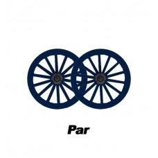 Par de Roda Aro 16 Nylon Azul