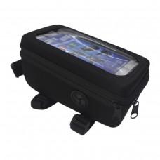 Bolsa Celular Bike Quadro MTB C/ Visor BK-05 GPS Preto