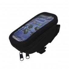 Bolsa Celular Bike Guidão MTB C/ Visor BK-01 GPS Preto