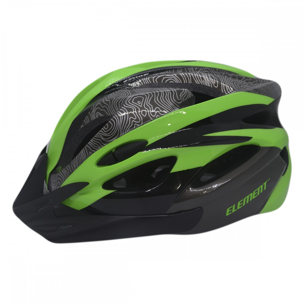 Capacete Ciclismo Element DG-040 C/ Led Adulto Grande Verde
