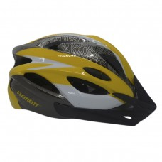 Capacete Ciclismo Element DG-041 C/ Led Adulto Grande Amarel