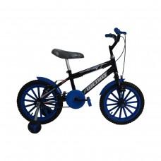 Bicicleta Aro 16 Infantil Masculina Heroes Preto com Azul
