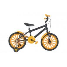Bicicleta Aro 16 Infantil Masculina  Preto com Amarelo