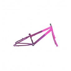 Quadro C/ Garfo 16 Infantil MTB Rebaixado Pink C/ Violeta