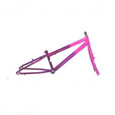 Quadro C/ Garfo 20 Infantil MTB Rebaixado Pink C/ Violeta