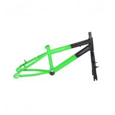 Quadro C/ Garfo 20 Infantil MTB Rebaixado Preto C/ Verde