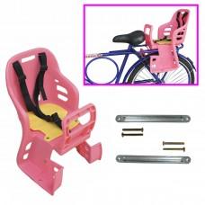 Cadeirinha Criança Bicicleta Traseira Bagageiro JS-048 Rosa