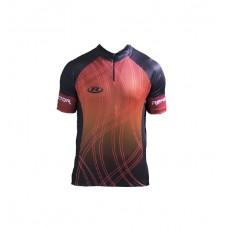 Camisa Ciclismo Refactor Adam Tam. GG Preto C/ Vermelho