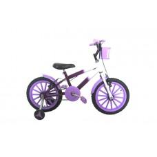Bicicleta Aro 16 Infantil Feminina Pink c/ Violeta