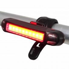 Lanterna Farol Led Bicicleta VDS-261 Usb Recarregável Luz 2 Cores