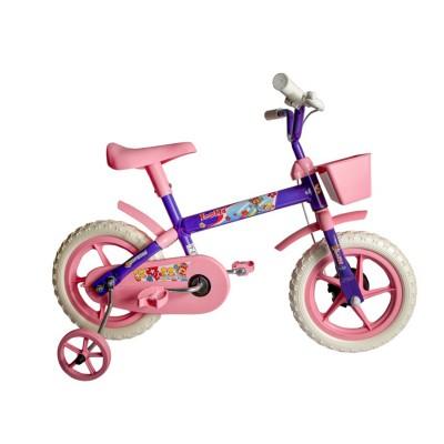 Bicicleta Aro 12 Infantil Feminina Samy Lillo Lilás Rosa