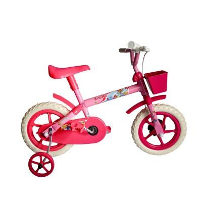 Bicicleta Aro 12 Infantil Feminina Samy Lillo Rosa Pink