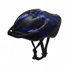 Capacete Ciclismo Adulto Podium Line Grande Preto C/ Azul