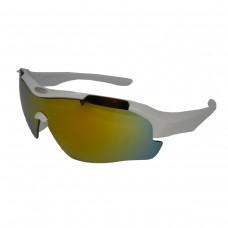 Óculos Ciclismo Esporte New Street Branco C/ Lente Espelhada
