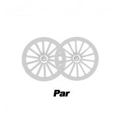 Par de Roda Aro 16 Nylon Branco