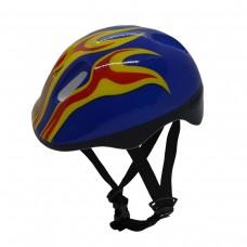 Capacete Ciclismo Infantil Kids Flame KB-10 C/ LED Azul Fire