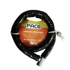 Cadeado Articulado Gomo Aco 1,0mX18mm Chave Tetra Preto