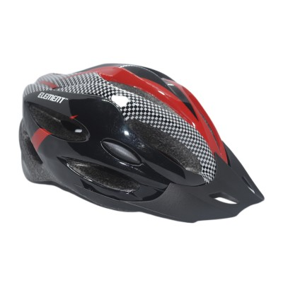 Capacete Ciclismo Element DG-013 C/ Led Adulto Grande Vermelho